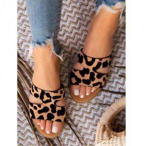 Shoes - Leopard Slides